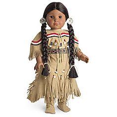American Girl Doll, Kaya in Deerskin Dress. American Girl Doll Rebecca, Native American Dolls, Native American Clothing, American Girl Clothes, Girl Doll Clothes, American Girls, Girl Dolls, Ag Dolls, Girl Clothing