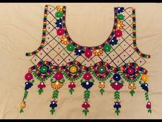 HAND EMBROIDERY : ROOTED / JAALI DESIGN / PART-3 - YouTube #embroiderydesigns