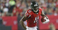 Julio Jones, Star Falcons Receiver, Shakes Off Cornerbacks and Celebrity