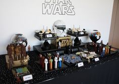 Another view of the awesome Star Wars dessert table. Source: Anders Ruff