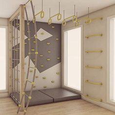 Indoor Climbing Wall, Kids Climbing, Indoor Playroom, Kids Indoor Gym, Indoor Jungle Gym, Kids Bedroom, Bedroom Decor, Kids Basement, Kids Gym