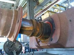 Hidden details exposed on the 88mm gun barrel / mantlet area on this restored Tiger 1 turret