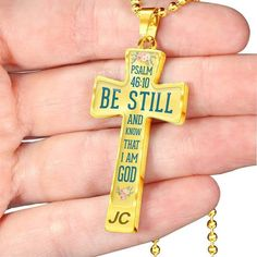 Christian christmas gift ideas - this christian necklaces with bible verse Psalm is a perfect christian gifts for your loved one. for husband, for him and your family. Be still and know that I am GOD. Family Bible Verses, Bible Verses About Strength, Bible Verses About Love, Bible Verses Quotes, Quotes About God, Family Quotes, Christian Christmas Gift, Christian Gifts, Christian Faith