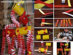 Rolinhos de papel higiênico + Papel colorido   Podemos criar Girafinhas para a diversão dos baixinhos...    Aqui:  https://www.facebook.com/pages/Chiquinha-Artesanato/345067182280566