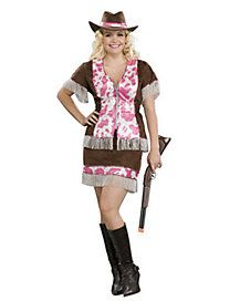 Adult Sassy Cowgirl Plus Size Costume