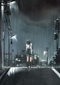 The rain falls in this dark and lonely night, but I must move onwards. Till the day I find someone.