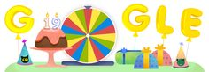 To celebrate, the company has made a Doodle surprise spinner that lets users play interactive games from the search engine's archives Google Doodles, Google Doodle Games, Happy Birthday Google, Happy 19th Birthday, Google Font, Art Google, Google Images, Doodles Games, Birthday Doodle