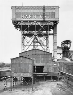 Nonsens Architektur Bernd and Hilla Becher · Hannibal Colliery, Bochum, Ruhr Area, D, black an Industrial Photography, Contemporary Photography, Inspiring Photography, Food Photography, Bernd Und Hilla Becher, British Journal Of Photography, Industrial Architecture, Industrial Design, Inspirational Wallpapers