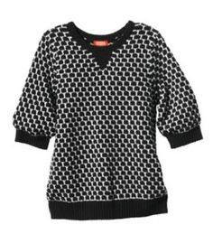 Kirna Zabete for Target 3/4 Sleeve Knit Sweater in Black and White Polka Dot XL #KirnaZabete #Crewneck