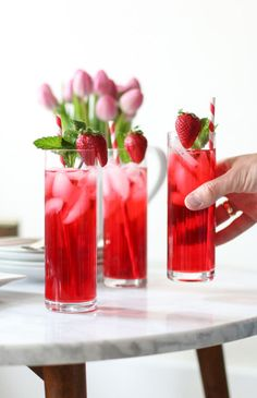 Life is full of occasion and celebrations. It's always handy to have a couple drink recipes in your back pocket when the need arises. That's why today, I'm sharing this Hibiscus Iced Tea Cooler repine....
