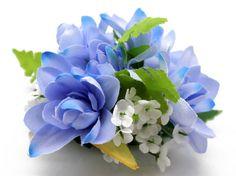 Hawaii Luau Party Dance Artificial Fabric Tuberose Hair Clip Blue