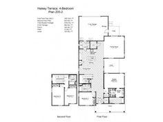 Navy Region Hawaii – Halsey Terrace Neighborhood: 4 bedroom home floor plan.