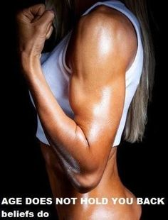 Look at this woman's amazing body and then look at her hair- ITS GRAY!! Shes older then she looks! Bodybuilding.com - The Best Workout For People Over 40