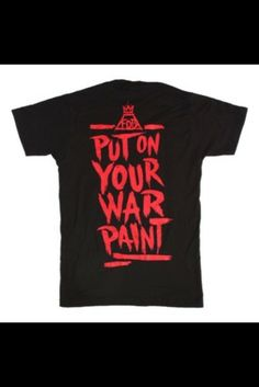 Fall out boy put on your war paint tshirt