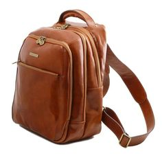 Phuket - Tuscany Leather - 3 Compartments leather laptop backpack - Bags For Business