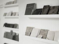 Laura Hammett studio * Mood Board Materials. See more inspirations at http://www.brabbu.com/en/inspiration-and-ideas/