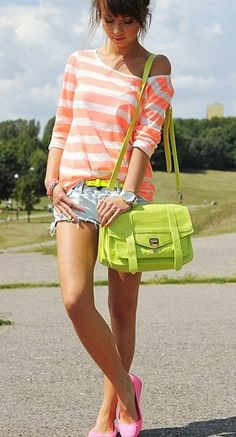 BAG: http://www.glamzelle.com/collections/whats-glam-new-arrivals/products/ps1-fluorescent-green-satchel-1