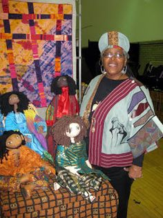 Greetings All, Well we've rested from our road-trip this past weekend, unpacked, and some of our Divas have moved on, while other are in the. African Textiles, African Fabric, African American Artist, American Artists, Crochet Quilt, Crochet Dolls, African Theme, American Quilt, Africa Art