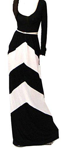 Chevron Color Blocked Long Sleeve Empire Waisted Maxi Dress ACEFAST INC http://www.amazon.com/dp/B00KIL34QI/ref=cm_sw_r_pi_dp_2ianub0A2Q1T9