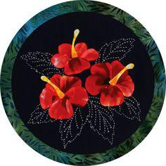 Hibiscus Quilt Block Kit