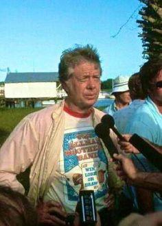 Jimmy Carter wearing an Allman Brothers shirt 1976