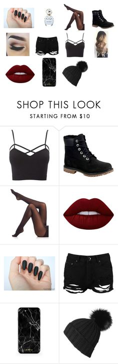 """""""Badas*"""" by itsmemegan ❤ liked on Polyvore featuring castro, Charlotte Russe, Timberland, Marc Jacobs, SPANX, Lime Crime, Boohoo, Black and plus size clothing"""