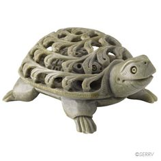 abaa21da0 Double-Carved Turtle Incredible craftsmanship skills are used to carve two  animals from one block