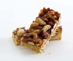 Honey-Nut Bars - Some flavor combinations bring out the best in one other:  maple and walnut, lemon and ginger, apples and honey, blueberry and lime, chocolate and just about anything. Honey and nuts are one of those perfect flavor marriages. Add some light brown sugar, and you've got a sweet, salty, crunchy bar that could potentially become your new go-to cookie.