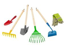 Amazon.com: Morgan Cycle Junior Sized Garden Tool Set and Rake Shovel Gloves Hoe: Toys & Games