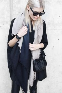 oversized winter style | blairbadge.com #aritzia #allblack #minimalist