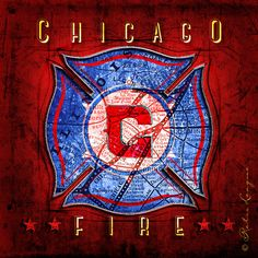 Chicago Fire Soccer Club Map Art Perfect Christmas By RetroLeague