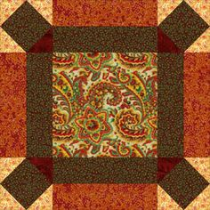 "Free quilt block patterns, all with step-by-step instructions and illustrations that show you the best quilt block assembly methods.: 6"" & 12"" Johnny Round the Corner Quilt Block Pattern"