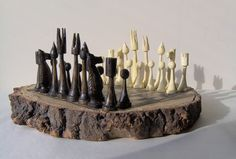 @dhwatson -Pieces made from reclaimed Christmas Trees Tree trunk for the board found in local park