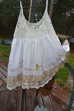 ... Penny Wear Vintage Magnolia Embroidered Crochet ... | Vintage L