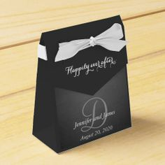 Chalkboard Monogram Happily Ever After 2 Wedding Favor Boxes