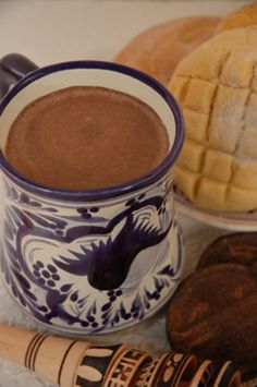 Mexican Hot Chocolate and pan dulce... Yuuuuum! Loooove pan dulce