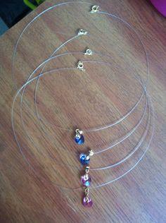 ✨ Collar nylon y Swarovski colores surtidos