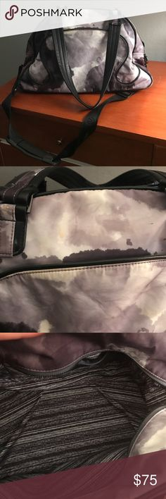 Lululemon gym bag Used lulu lemon gym bag with separate zipped section for shoes 👠 stains shown lululemon athletica Bags Travel Bags