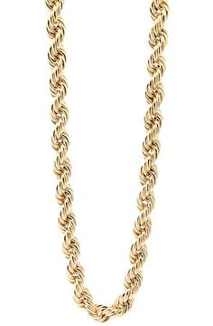 d25d816b507 King Ice Accessories The 8mm Run DMC Yellow Gold Rope Dookie 36 inch Chain  in Gold