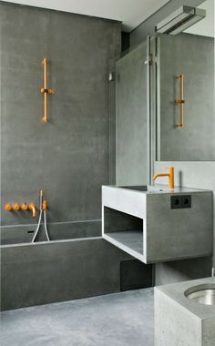 Concret and copper - perfection