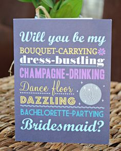DIY Will You Be My Bridesmaid Cards
