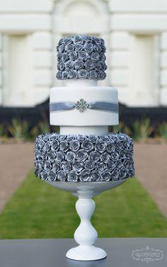 Silver Rose Cake