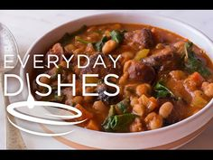 Chicken Sausge and White Bean Soup Recipe Video