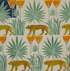 Textile design, by C.F.A. Voysey. England, early 20th century