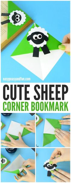 Cute Sheep Corner Bookmark Paper Craft for Kids to Make
