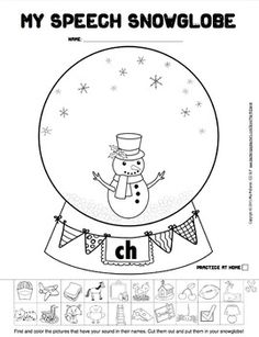 MY SPEECH SNOWGLOBES {FOR ARTICULATION & PHONEMIC AWARENESS!) - Cut & paste fun!