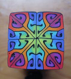 Polymer Clay Kaleidoscope Cane by Carol Capaldi
