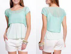 #Mint - Blusa sobreposta com manga de paetê!