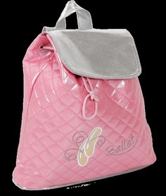 Personalized Pinkalicious Dance Shoes Backpack  This bag would make any little girl happy.  etsy.com/shop/threelittlechickadee