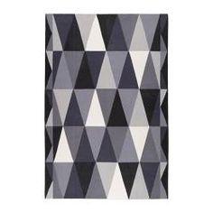 "IKEA STOCKHOLM rug, flatwoven, gray, black Length: 9 ' 10 "" Width: 6 ' 7 "" Surface density: 5 oz/sq ft Length: 300 cm Width: 200 cm Surface density: 1450 g/m²"